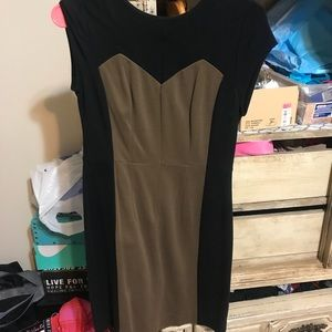 Black and brown dress